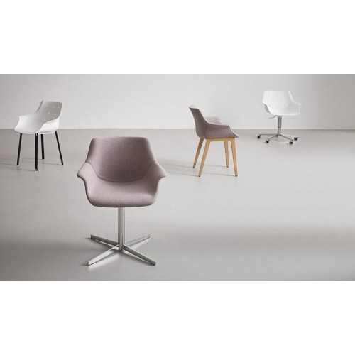 Πλαστική καρέκλα περιστρεφόμενη